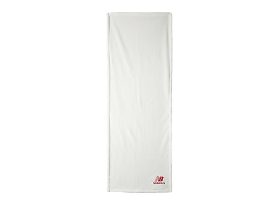 Fitness Towel, White with Red