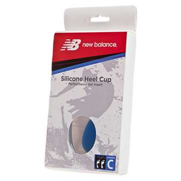 New Balance Silicone Heel Cup, Clear with Blue