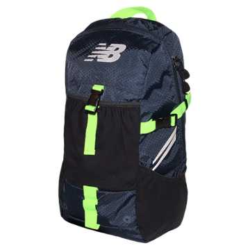 New Balance Endurance Backpack, Equinox with Toxic & Black