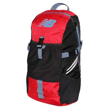 New Balance Endurance Backpack, Chrome Red with Black & Crater
