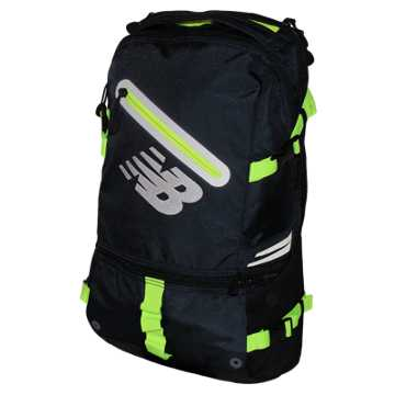 New Balance Commuter Backpack, Equinox with Toxic & Black