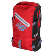 Commuter Backpack, Chrome Red with Black & Crater