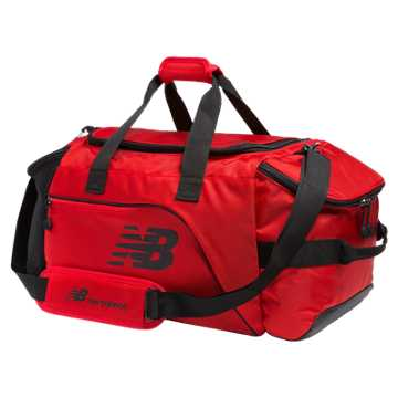 New Balance Performance Duffel, Chrome Red with Black