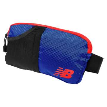 New Balance Performance Waist Pack, Marine Blue with Atomic