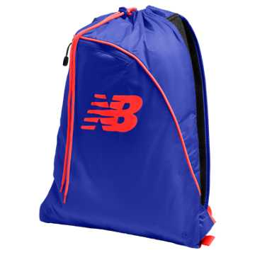 New Balance Race Day Gym Sack, Marine Blue with Atomic