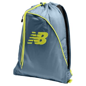 New Balance Race Day Gym Sack, Riptide with Firefly