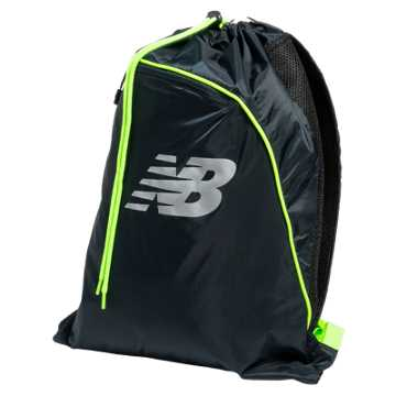 New Balance Race Day Gym Sack, Equinox with Toxic & Silver Mink