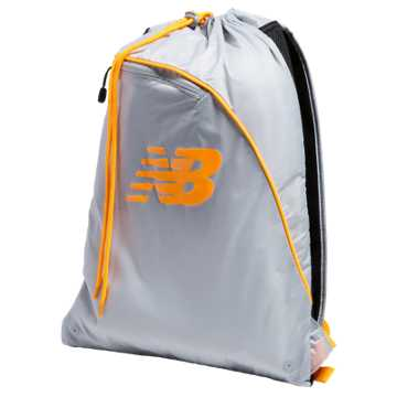 New Balance Race Day Gym Sack, Silver Mink with Impulse