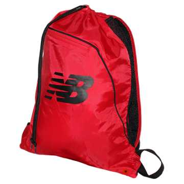New Balance Race Day Gym Sack, Chrome Red with Black