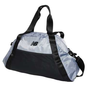 New Balance Gym Bag, Silver Mink with Black