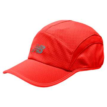 New Balance 5 Panel Performance Hat, Bright Cherry with Guava