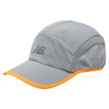 New Balance 5 Panel Performance Hat, Silver Mink with Impulse