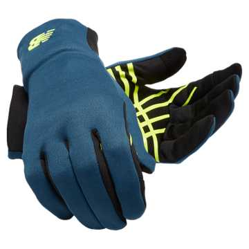 New Balance Lightweight Gloves, Riptide with Black & Firefly