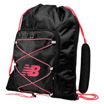 New Balance Media Cinch Sack, Galaxy with Bright Cherry & Guava