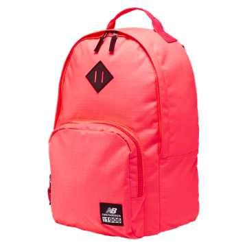 New Balance Daily Driver Backpack, Guava with Bright Cherry