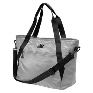 New Balance Tote Bag, Silver Mink with Black