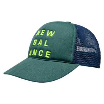New Balance Trucker Hat, Teal with Hi-Lite