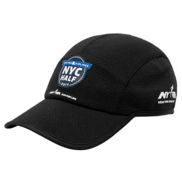 New Balance United NYC Half 5 Panel Performance Hat, Black