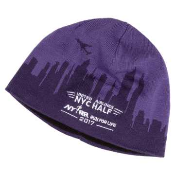 New Balance United NYC Half Performance Beanie, Purple