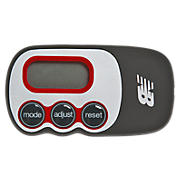 Via Slim 3Axis Pedometer, Black with Red