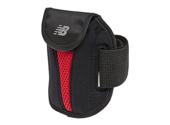 Sport Arm Wallet, Black with Red