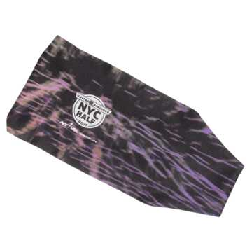 New Balance United NYC Half Headband, Black with Purple