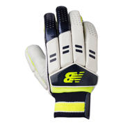 New Balance DC380 Gloves, Blue with Neon Green