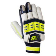 New Balance DC880 Gloves, Blue with Neon Green