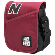 NB Small Cross-Body Bag, Burgundy with Black