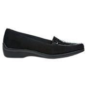 Aravon Wendy, Black Suede with Black Patent