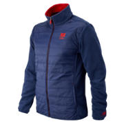 NB996 Fleece Lined Jacket, Sailor Blue with Embers & White