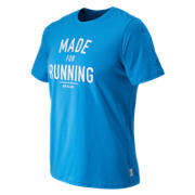 Made for Running Tee, Bolt with White