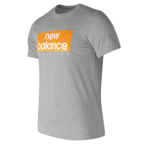 New Balance : Mens Logo Box Tee : Men's Apparel Outlet : AMT71636HGR
