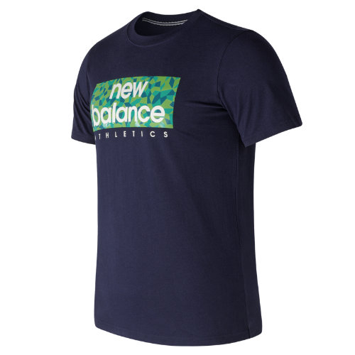 New Balance : Mens Logo Box Tee : Men's Apparel Outlet : AMT71636PGM