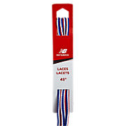 Athletic Oval Lace, Red with White & Blue