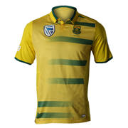 New Balance Proteas Junior T20 Polo, Yellow with Green