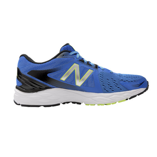 New Balance 680v4 Chaussures - Electric Blue/Black/Hi-Lite (Taille EU 44 / UK 9.5)