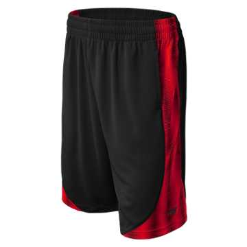 New Balance Performance Shorts, Black with Classic Red