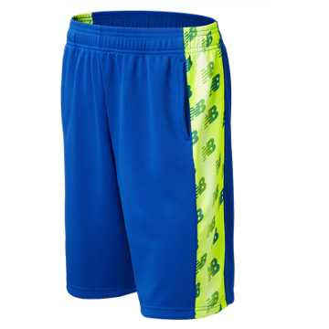 New Balance Performance Shorts, Pacific with White & Toxic