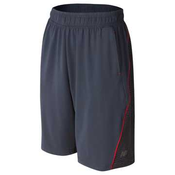 New Balance Fashion Performance Short, Thunder with Black & Atomic