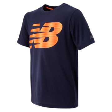 New Balance SS Core Graphic Tee, Abyss with Impulse