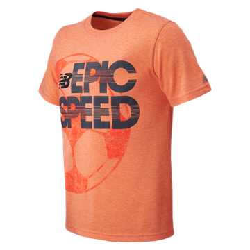 New Balance SS Core Graphic Tee, Lava Heather