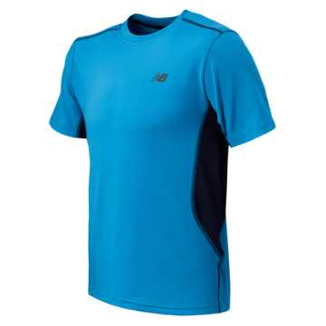 New Balance SS Performance Tee, Sonar with Abyss