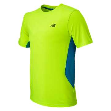 New Balance SS Performance Tee, Toxic with Sonar