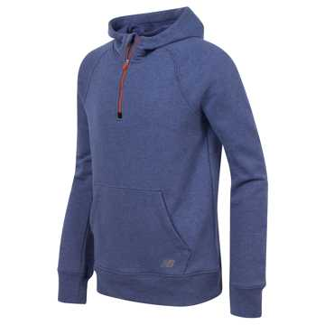 New Balance Quarter Zip Hoodie, Basin with Blue Rain