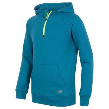 New Balance Quarter Zip Hoodie, Castaway with Riptide