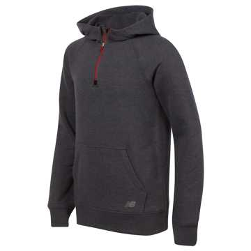 New Balance Quarter Zip Hoodie, Thunder with Silver Mink