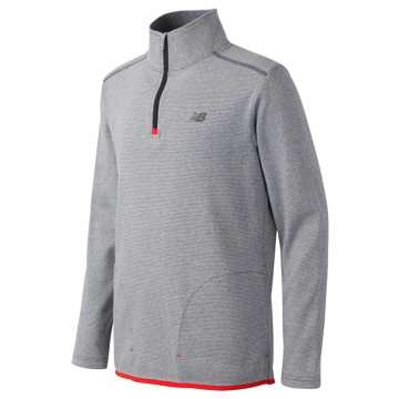 New Balance Quarter Zip Pullover, Thunder with Silver Mink & Atomic
