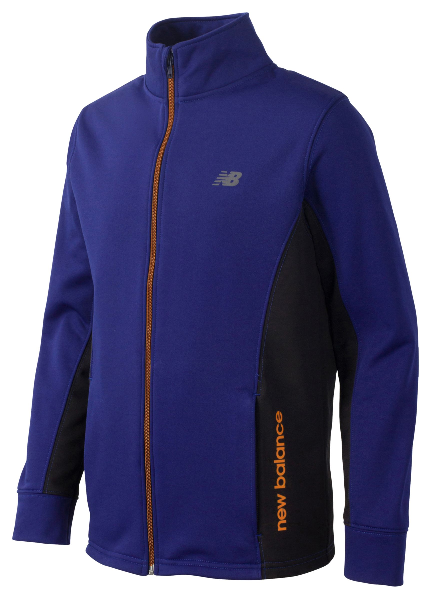 New Balance Boys Full Zip Mock Neck Jacket Blue