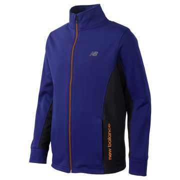 New Balance Full Zip Mock Neck Jacket, Basin with Black